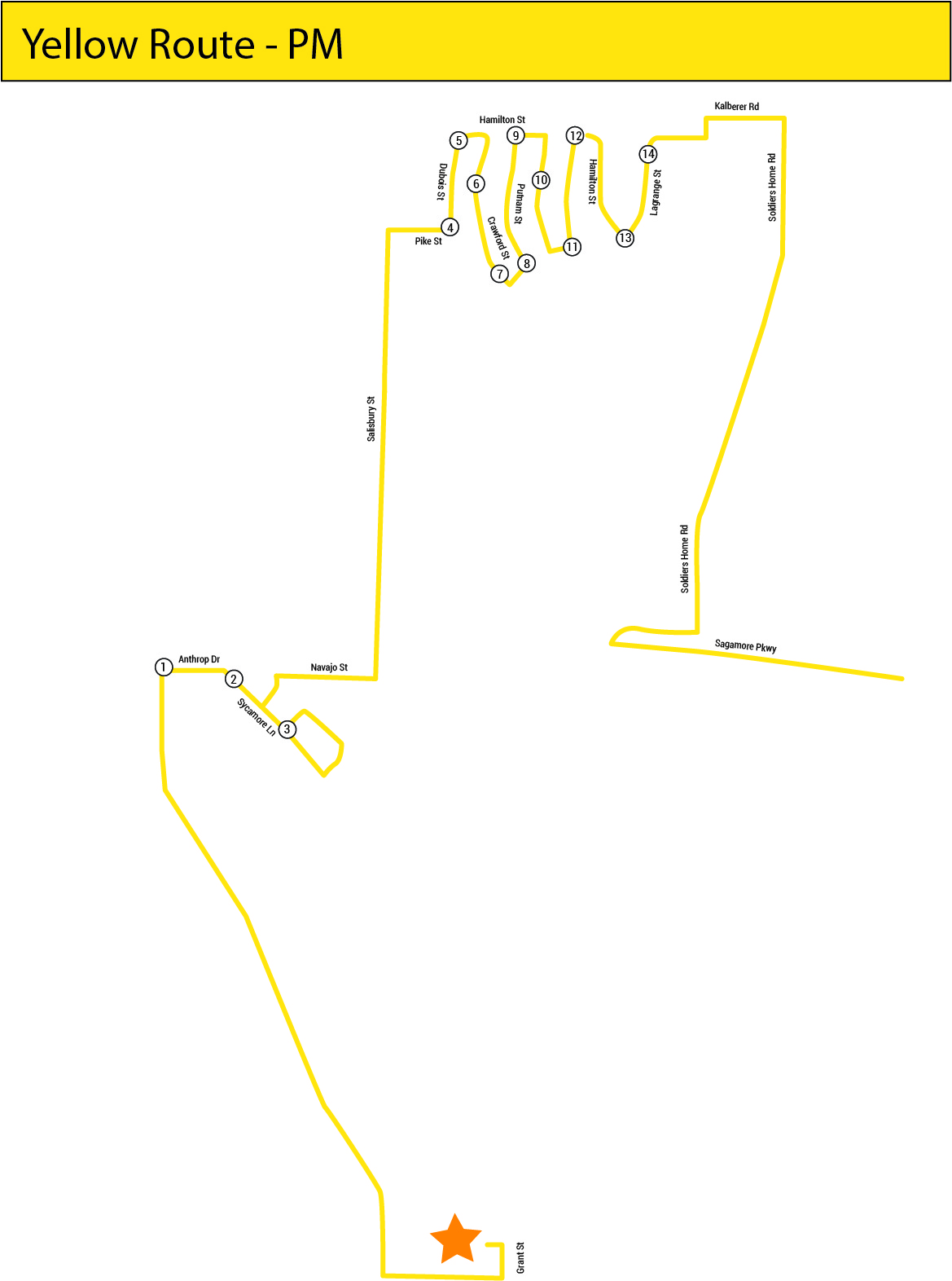 Yellow Line map