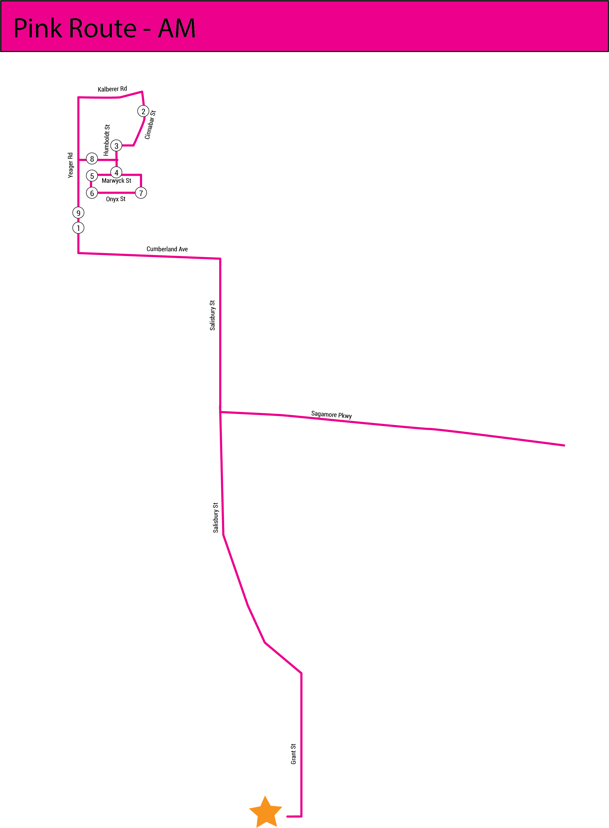 Pink Line map