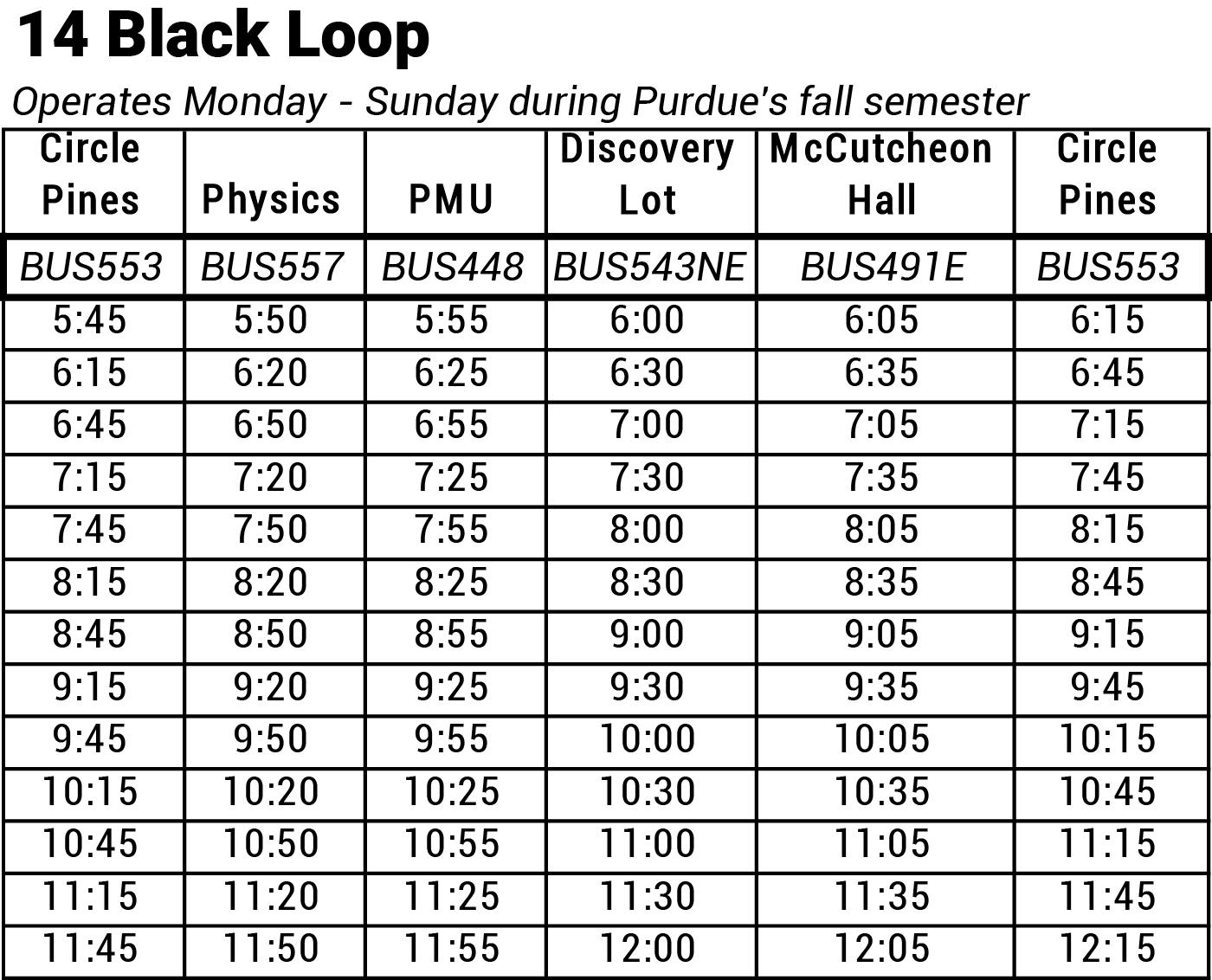 14 Black Loop map